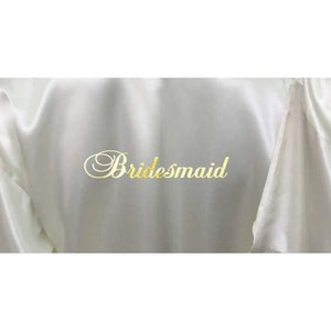 Ivory Bridesmaid Robe - Bridal Party Robe from  -  Bridal Delights