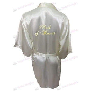 Ivory Bridesmaid Robe - Maid of Honour from  -  Bridal Delights