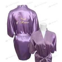 Load image into Gallery viewer, Lilac Bridesmaid Robe - Maid of Honour from  -  Bridal Delights