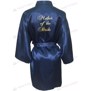 Navy Blue Bridesmaid Robe - Mother of the Bride from  -  Bridal Delights