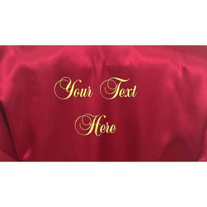 Personalised Burgundy Bridesmaid Robe - Bridal Party Robe from