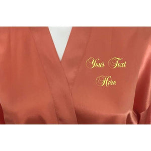 Personalised Coral Bridesmaid Robe - Bridal Party Robe from