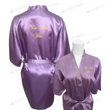 Load image into Gallery viewer, Personalised Lilac Bridesmaid Robe - Bridal Party Robe from