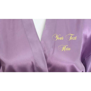 Personalised Lilac Bridesmaid Robe - Bridal Party Robe from  -  Bridal Delights