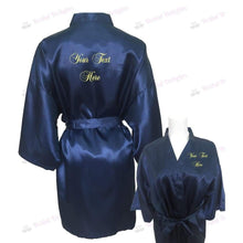 Load image into Gallery viewer, Personalised Navy Blue Bridesmaid Robe - Bridal Party Robe from