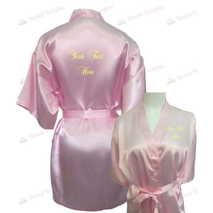 Personalised Pink Bridesmaid Robe - Bridal Party Robe from