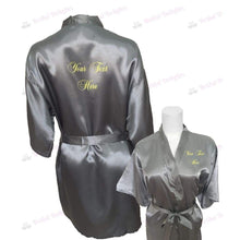 Load image into Gallery viewer, Personalised Silver Bridesmaid Robe - Bridal Party Robe from  -  Bridal Delights