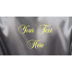 Personalised Silver Bridesmaid Robe - Bridal Party Robe from  -  Bridal Delights
