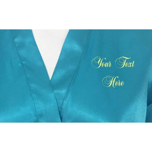 Personalised Turquoise Bridesmaid Robe - Bridal Party Robe from