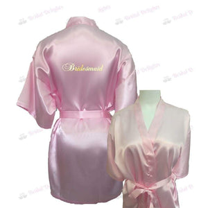 Pink Bridesmaid Robe - Bridal Party Robe from  -  Bridal Delights