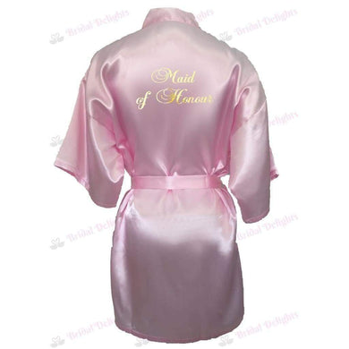 Pink Bridesmaid Robe - Maid of Honour from