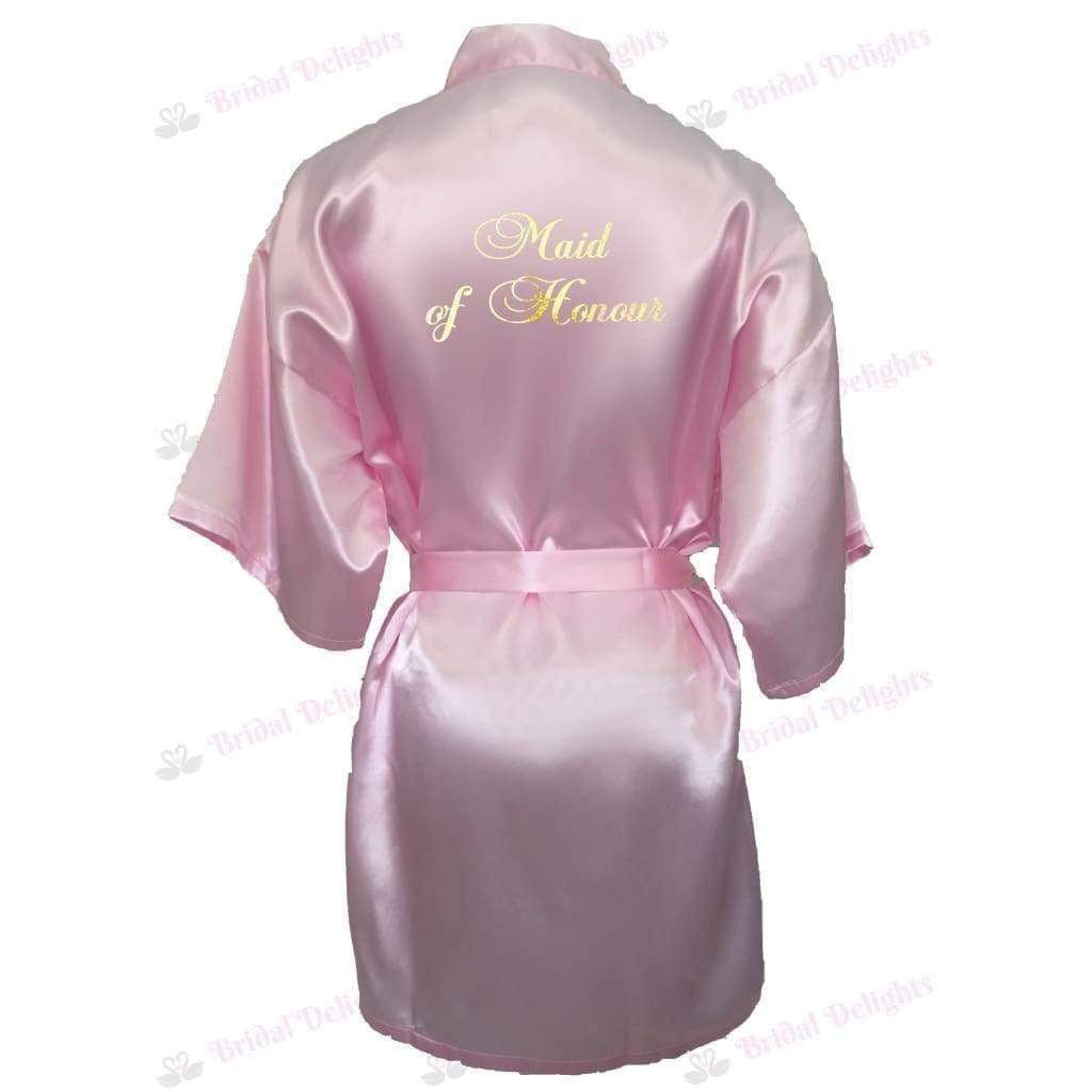 Pink Bridesmaid Robe - Maid of Honour from  -  Bridal Delights