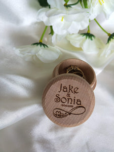 Ring Bearer Box - Wooden Ring Box  -  Bridal Delights