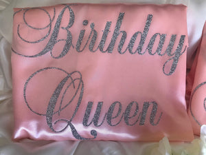 Satin Birthday Robes - Birthday Queen and Best Friend Set of 2  -  Bridal Delights