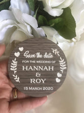 Load image into Gallery viewer, Save the date magnet - For the Wedding of  -  Bridal Delights