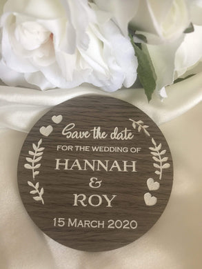 Save the Date Wooden Magnets Australia | Bridal Delights