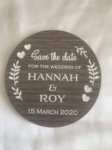 Save the date magnet - For the Wedding of  -  Bridal Delights