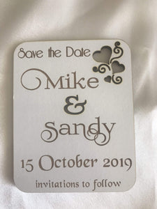 Save the date magnet - Invitations to follow  -  Bridal Delights