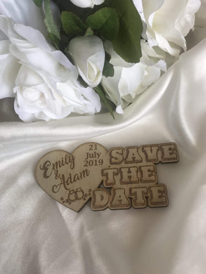 Save the date magnet - Love Heart  -  Bridal Delights