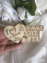 Load image into Gallery viewer, Save the date magnet - Love Heart  -  Bridal Delights