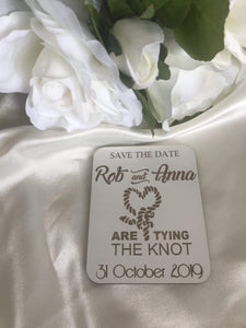 Save the date magnet - Tying the Knot  -  Bridal Delights