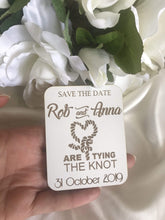Load image into Gallery viewer, Save the date magnet - Tying the Knot  -  Bridal Delights