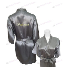 Load image into Gallery viewer, Silver Bridesmaid Robe - Bridal Party Robe from  -  Bridal Delights