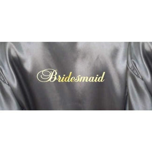 Silver Bridesmaid Robe - Bridal Party Robe from  -  Bridal Delights