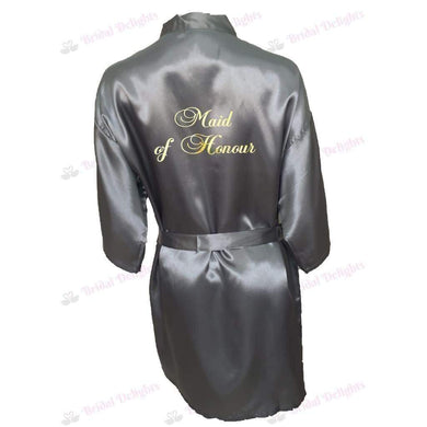 Silver Bridesmaid Robe - Maid of Honour from