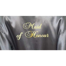 Load image into Gallery viewer, Silver Bridesmaid Robe - Maid of Honour from  -  Bridal Delights