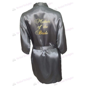 Silver Bridesmaid Robe - Mother of the Bride from