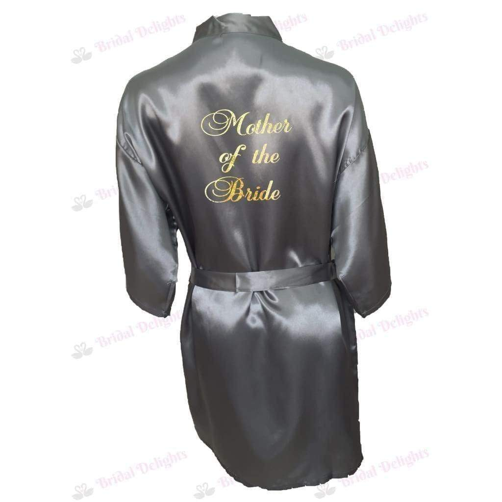 Silver Bridesmaid Robe - Mother of the Bride from  -  Bridal Delights