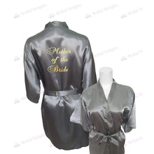 Load image into Gallery viewer, Silver Bridesmaid Robe - Mother of the Bride from  -  Bridal Delights