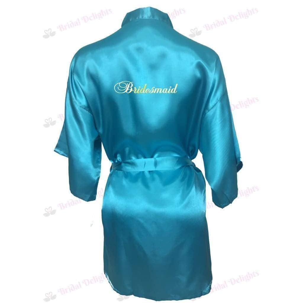 Turquoise Bridesmaid Robe - Bridal Party Robe from