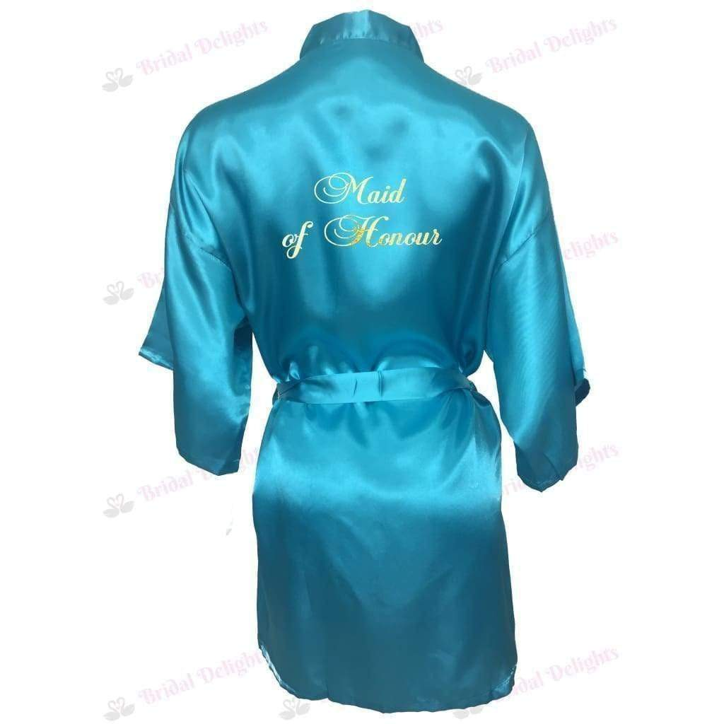 Turquoise Bridesmaid Robe - Maid of Honour from