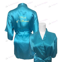 Load image into Gallery viewer, Turquoise Bridesmaid Robe - Maid of Honour from  -  Bridal Delights