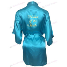Load image into Gallery viewer, Turquoise Bridesmaid Robe - Mother of the Bride from