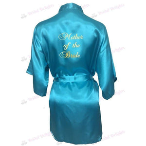 Turquoise Bridesmaid Robe - Mother of the Bride from  -  Bridal Delights