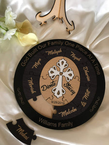 Wedding Ceremony Puzzle - Christian puzzle with 10 names  -  Bridal Delights
