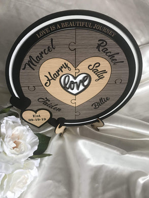 Wedding Ceremony Puzzle - Love with 6 names  -  Bridal Delights