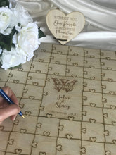 Load image into Gallery viewer, Wedding guest register - Alternative puzzle plywood  -  Bridal Delights