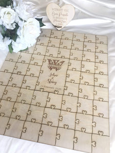 Wedding guest register - Alternative puzzle plywood  -  Bridal Delights