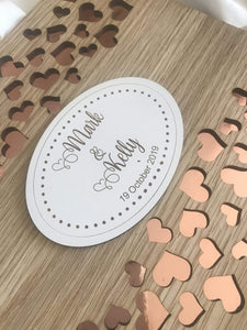 Wedding guest register - Hearts Light  -  Bridal Delights