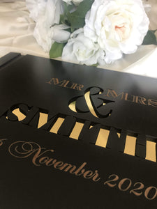 Wedding guest register - Mr & Mrs  -  Bridal Delights