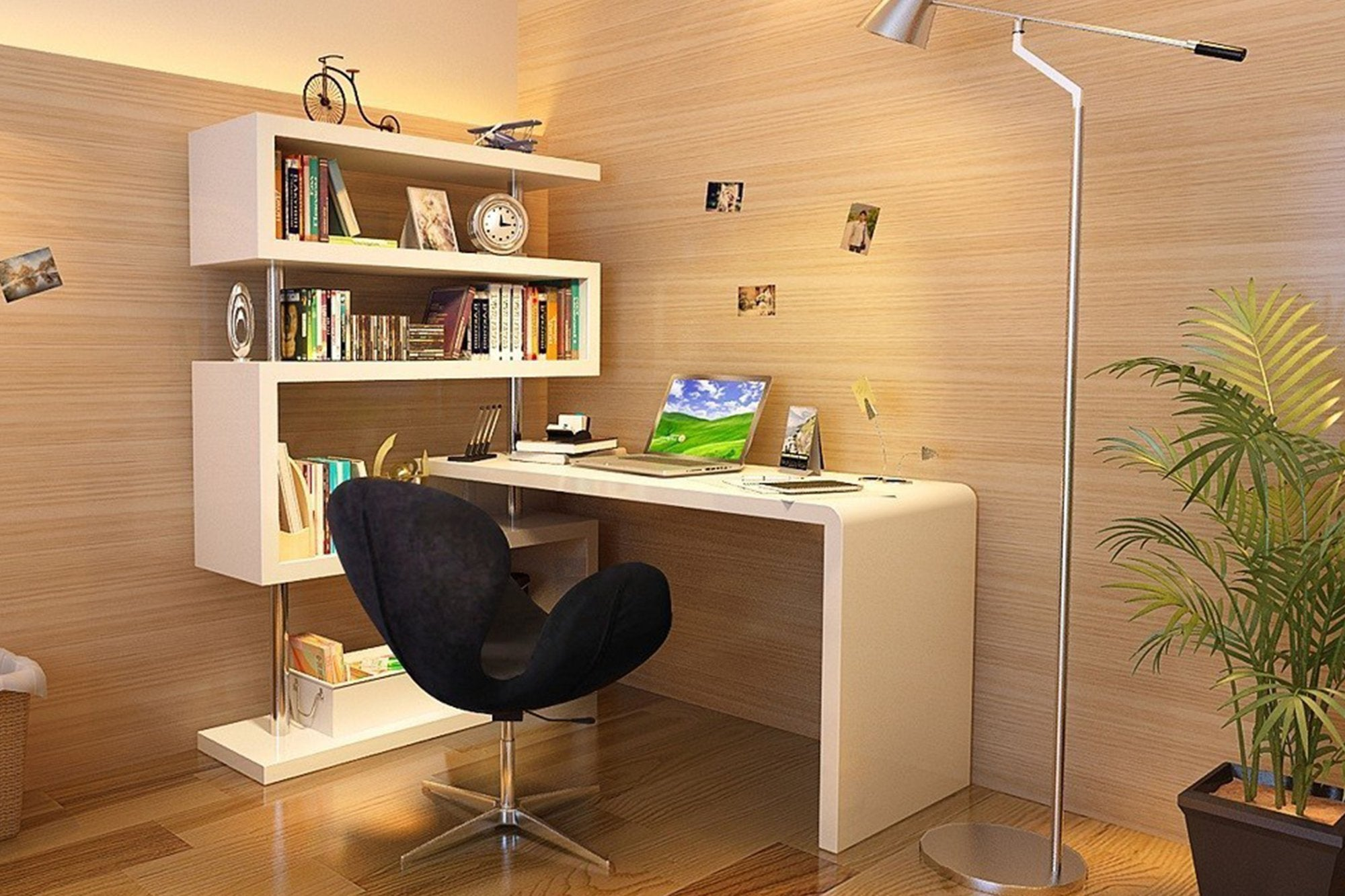 The ideal home office begins with choosing the right desk.