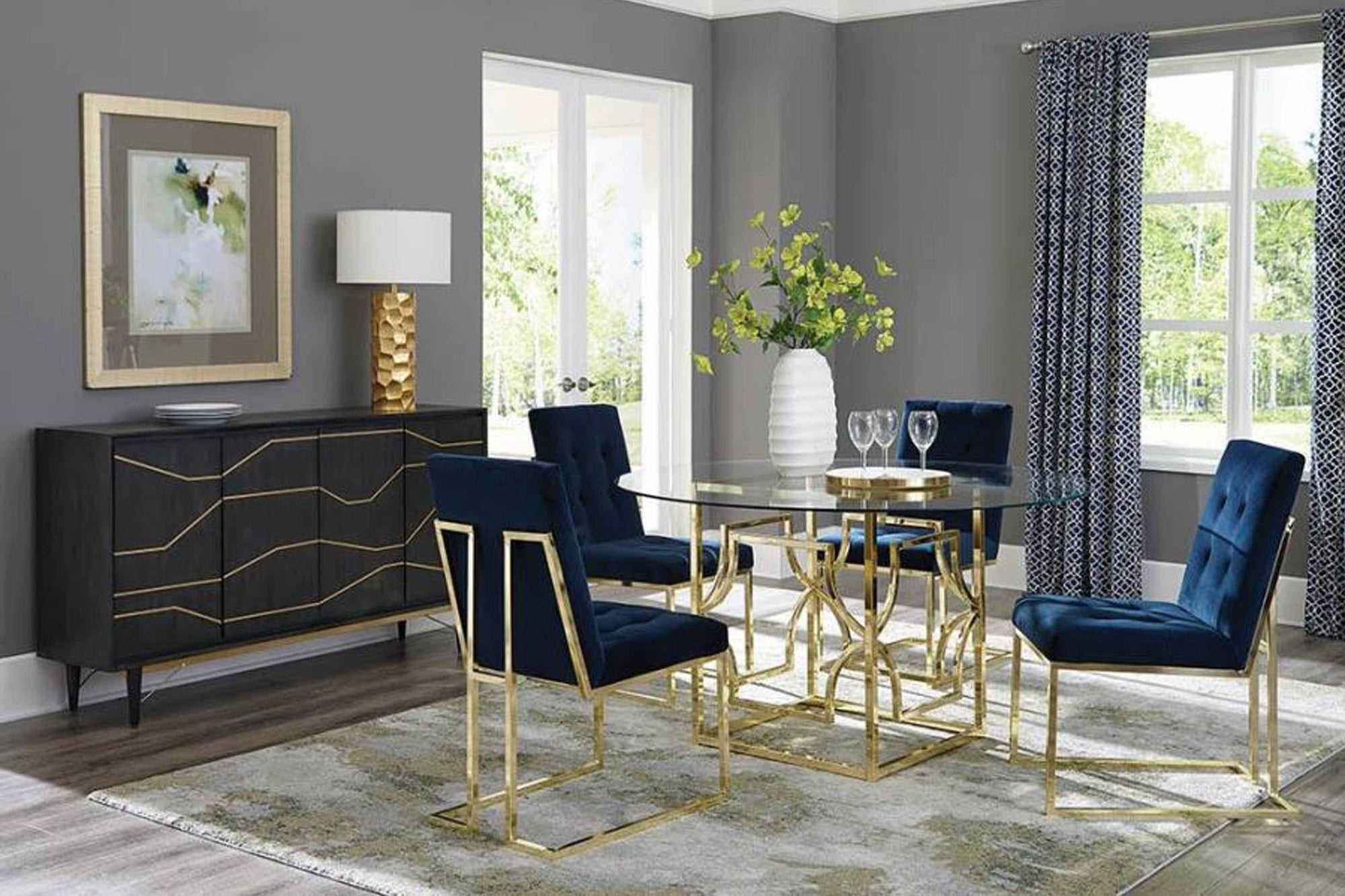 Gold Dining Table #18192641