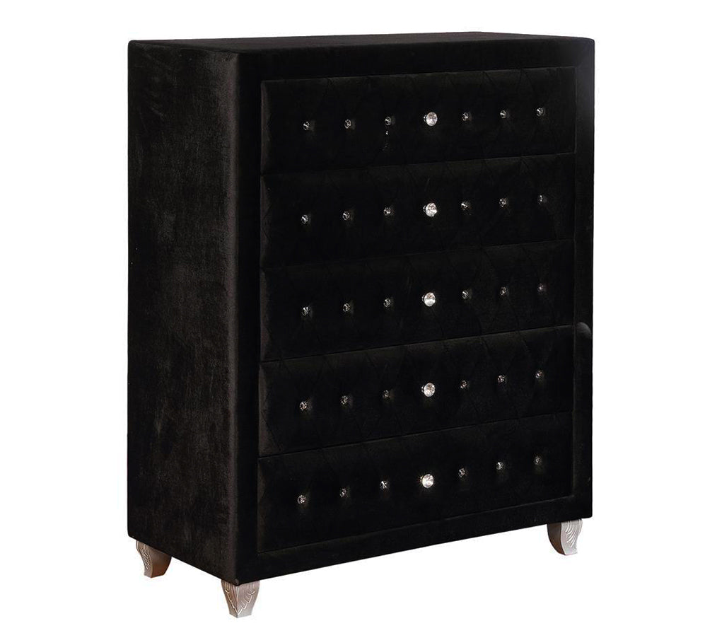 Deanna Contemporary Black and Metallic Chest Model # 206105