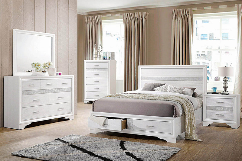 Contemporary White Bed #18205111Q