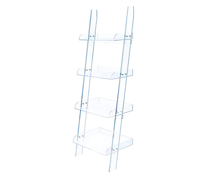 Amaturo Clear Acrylic Ladder Bookcase Model #  801553