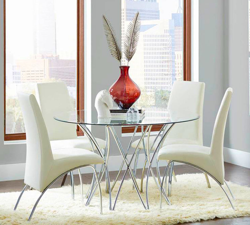 Ophelia Dining Chairs White and Chrome Model #  18121572